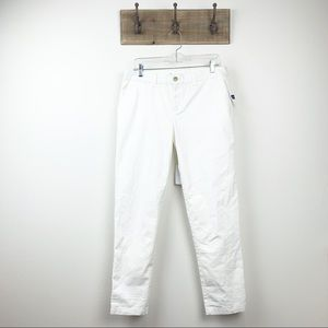 GAP Broken in Straight White Khaki Pants